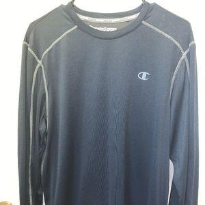 Champion Long-Sleeved Dark-Navy Blue Shirt
